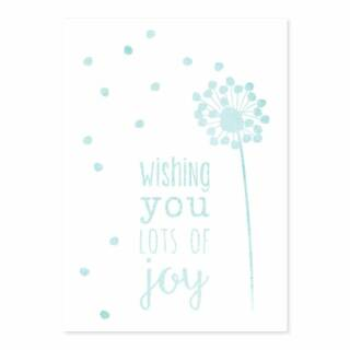 Postkarte Wishing you lots of joy