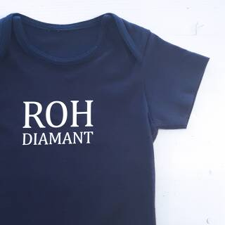 Baby Shirt Rohdiamant fire red 68/74