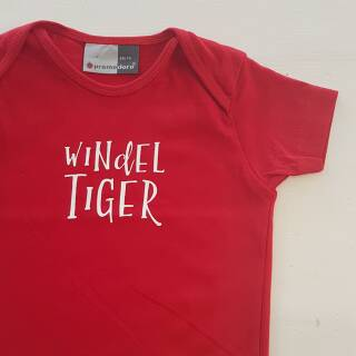Baby Shirt Windeltiger gold 68/74